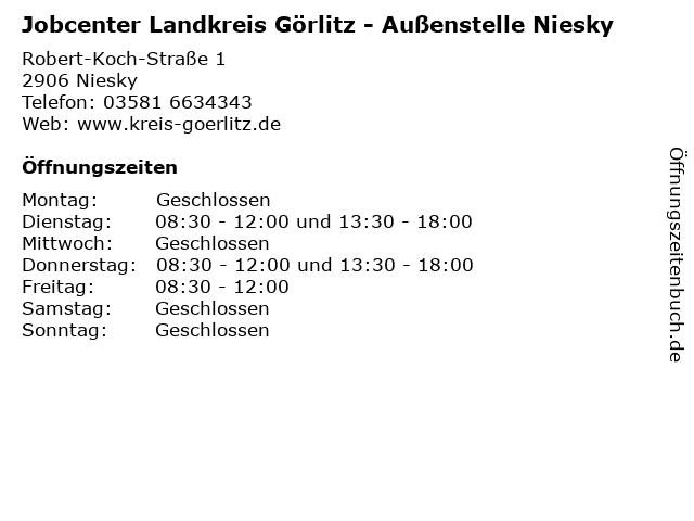 Jobcenter Landkreis Görlitz - Außenstelle Niesky in Niesky: Adresse und Öffnungszeiten