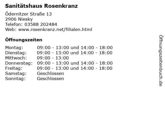 Sanitätshaus Rosenkranz in Niesky: Adresse und Öffnungszeiten