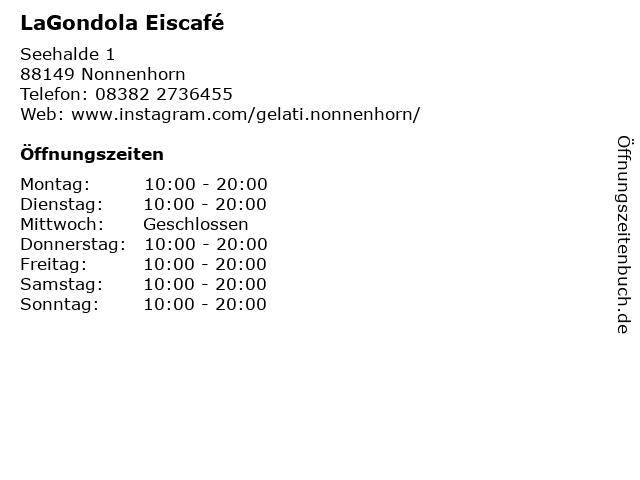 La Gondola in Nonnenhorn: Adresse und Öffnungszeiten
