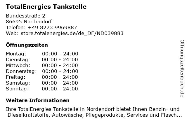 TOTAL Tankstelle in Nordendorf: Adresse und Öffnungszeiten