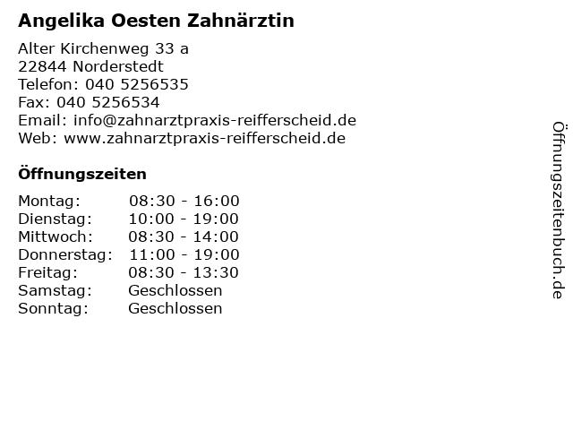 Angelika Oesten Zahnärztin in Norderstedt: Adresse und Öffnungszeiten