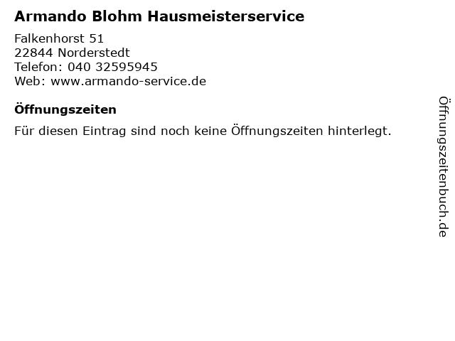 Armando Blohm Hausmeisterservice in Norderstedt: Adresse und Öffnungszeiten