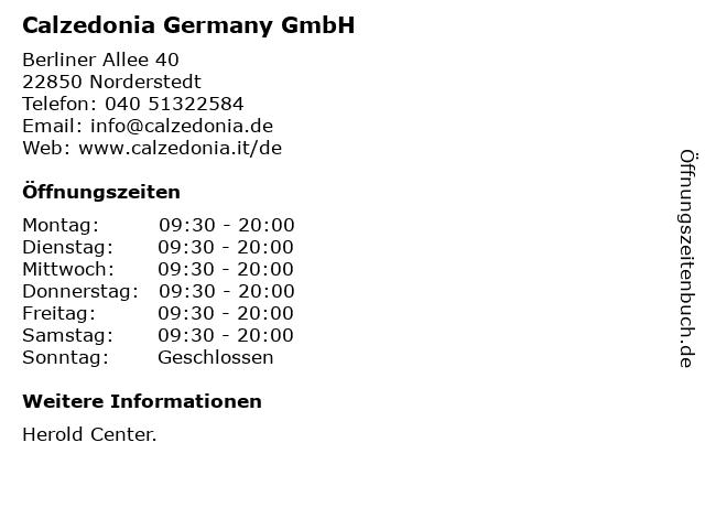 Calzedonia Germany GmbH in Norderstedt: Adresse und Öffnungszeiten
