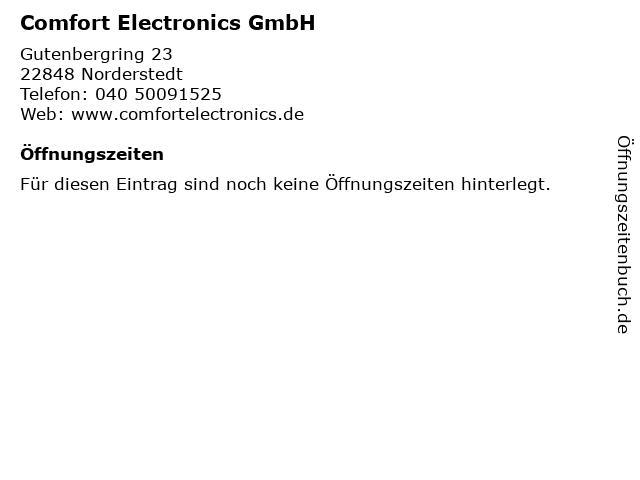Comfort Electronics GmbH in Norderstedt: Adresse und Öffnungszeiten