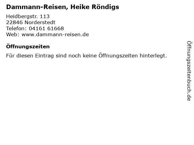 Dammann-Reisen, Heike Röndigs in Norderstedt: Adresse und Öffnungszeiten