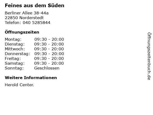 Feines aus dem Süden in Norderstedt: Adresse und Öffnungszeiten