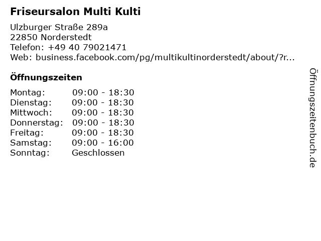 Friseursalon Multi Kulti in Norderstedt: Adresse und Öffnungszeiten