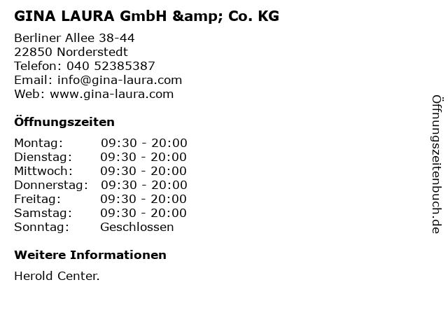 GINA LAURA GmbH & Co. KG in Norderstedt: Adresse und Öffnungszeiten