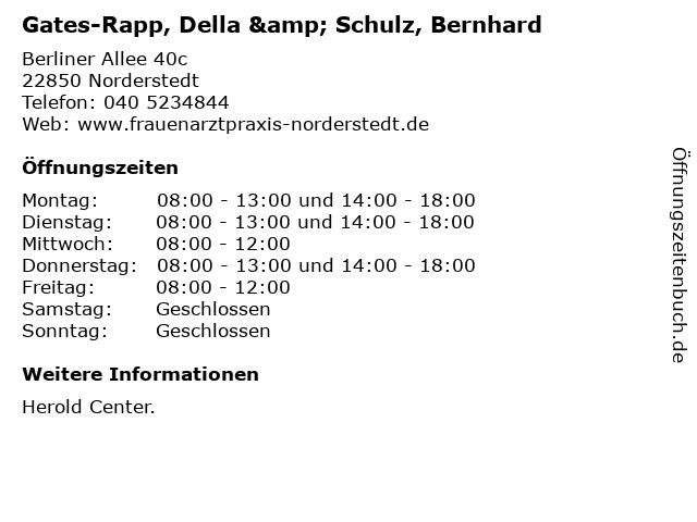 Gates-Rapp, Della & Schulz, Bernhard in Norderstedt: Adresse und Öffnungszeiten