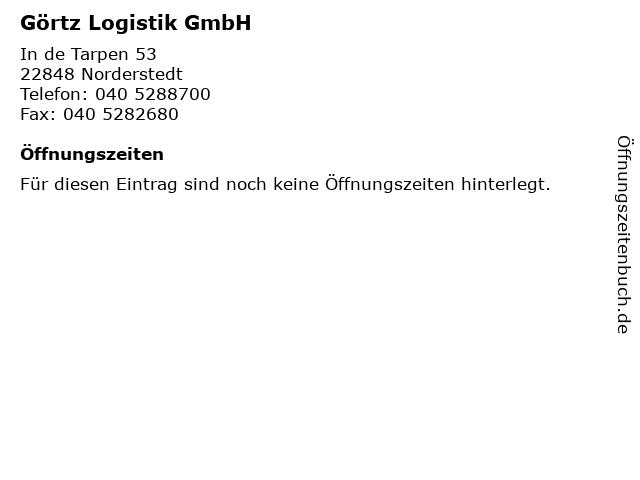 Görtz Logistik GmbH in Norderstedt: Adresse und Öffnungszeiten