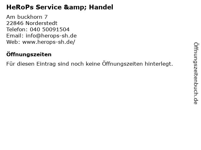 HeRoPs Service & Handel in Norderstedt: Adresse und Öffnungszeiten