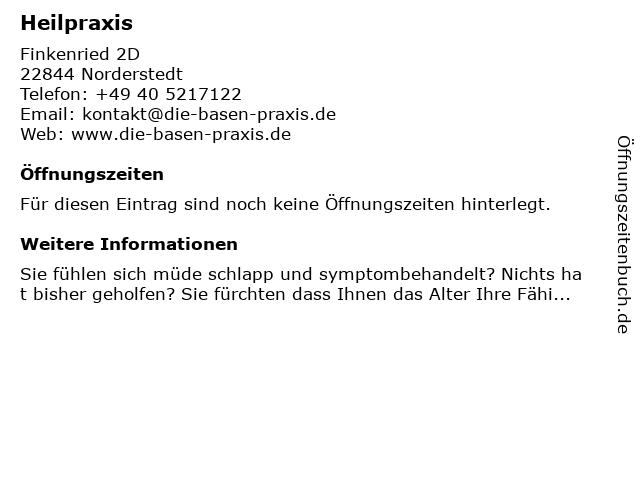 Heilpraxis in Norderstedt: Adresse und Öffnungszeiten