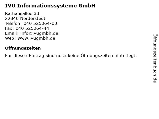 IVU Informationssysteme GmbH in Norderstedt: Adresse und Öffnungszeiten