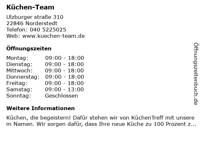 Küchen-Team in Norderstedt: Adresse und Öffnungszeiten
