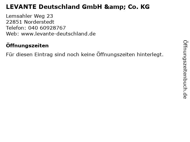 LEVANTE Deutschland GmbH & Co. KG in Norderstedt: Adresse und Öffnungszeiten