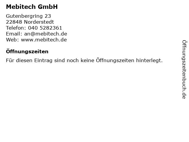 Mebitech GmbH in Norderstedt: Adresse und Öffnungszeiten