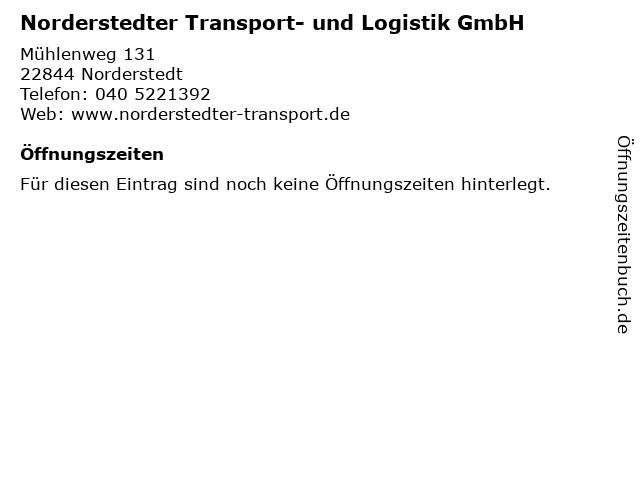 Norderstedter Transport- und Logistik GmbH in Norderstedt: Adresse und Öffnungszeiten