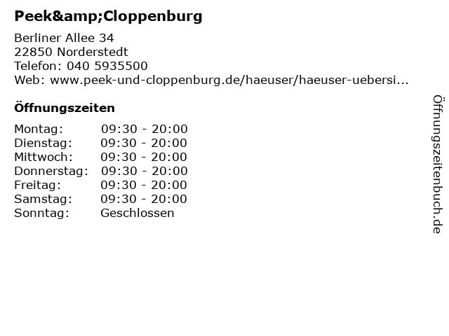 Peek & Cloppenburg KG in Norderstedt: Adresse und Öffnungszeiten