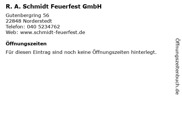 R. A. Schmidt Feuerfest GmbH in Norderstedt: Adresse und Öffnungszeiten