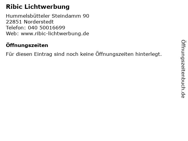 Ribic Lichtwerbung in Norderstedt: Adresse und Öffnungszeiten