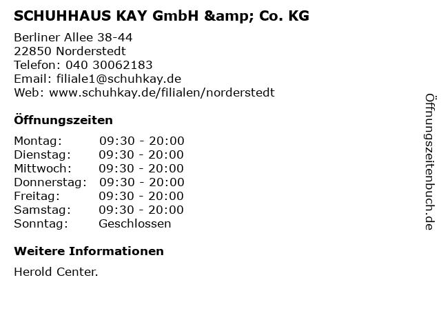 SCHUHHAUS KAY GmbH & Co. KG in Norderstedt: Adresse und Öffnungszeiten