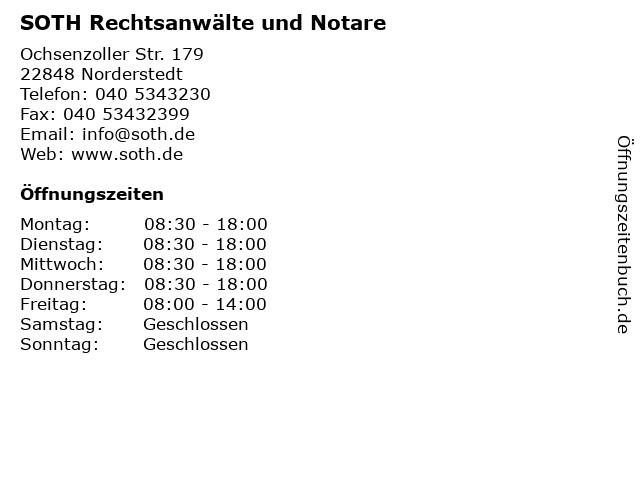 SOTH Rechtsanwälte und Notare in Norderstedt: Adresse und Öffnungszeiten