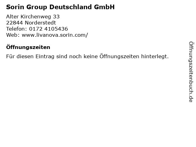 Sorin Group Deutschland GmbH in Norderstedt: Adresse und Öffnungszeiten