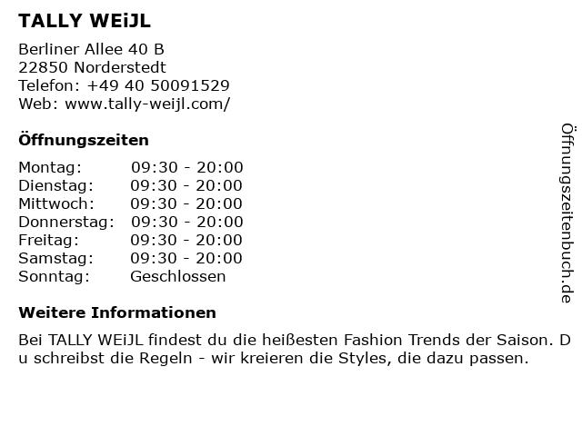Tally Weijl Deutschland GmbH in Norderstedt: Adresse und Öffnungszeiten