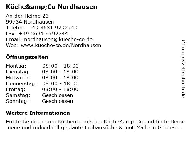 Küche&Co Nordhausen in Nordhausen: Adresse und Öffnungszeiten