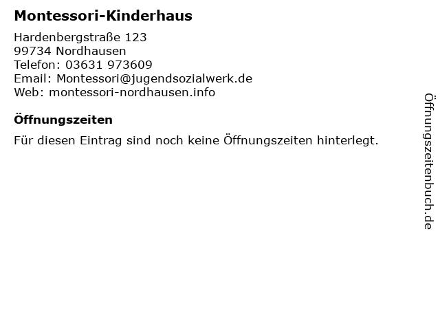 Montessori-Kinderhaus in Nordhausen: Adresse und Öffnungszeiten