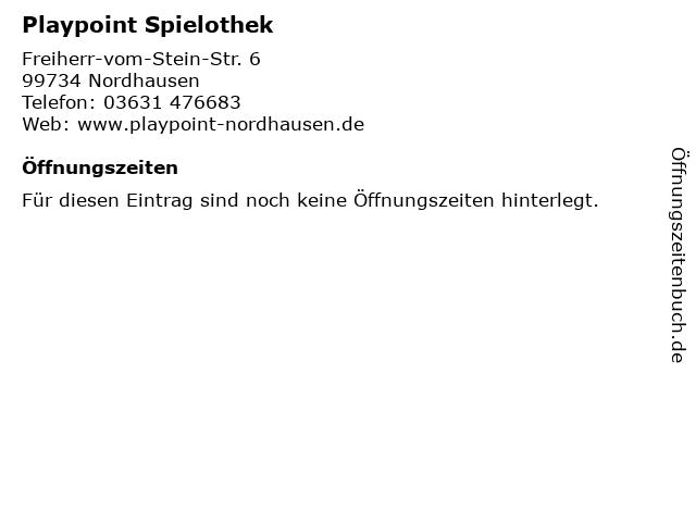 Playpoint Spielothek in Nordhausen: Adresse und Öffnungszeiten