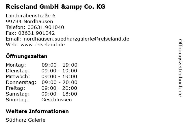 Reiseland GmbH & Co. KG in Nordhausen: Adresse und Öffnungszeiten