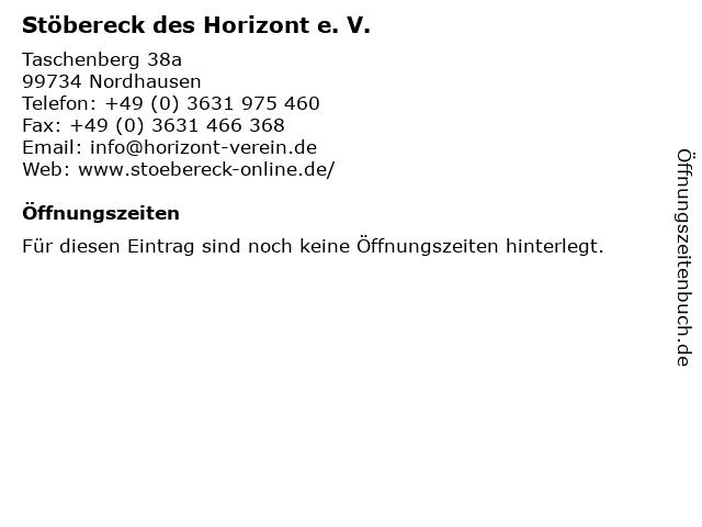 Stöbereck des Horizont e. V. in Nordhausen: Adresse und Öffnungszeiten