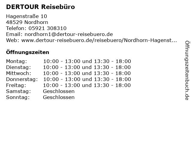 DER Deutsches Reisebüro in Nordhorn: Adresse und Öffnungszeiten