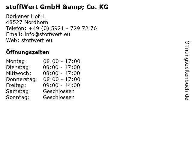 stoffWert GmbH & Co. KG in Nordhorn: Adresse und Öffnungszeiten