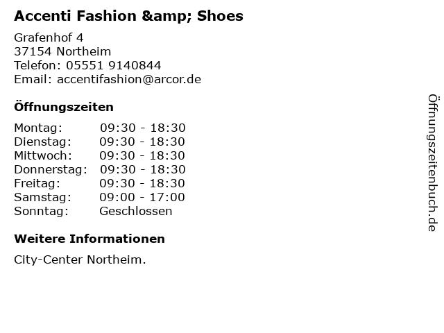 Accenti Fashion in Northeim: Adresse und Öffnungszeiten