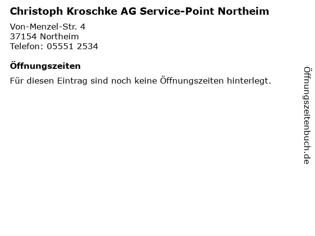 Christoph Kroschke AG Service-Point Northeim in Northeim: Adresse und Öffnungszeiten
