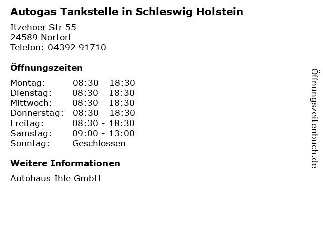 Autogas Tankstelle in Schleswig Holstein in Nortorf: Adresse und Öffnungszeiten