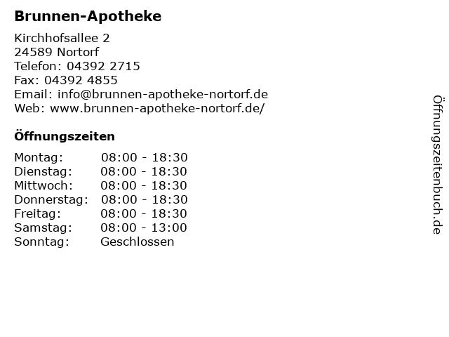 Brunnen-Apotheke in der Kirchhofsallee in Nortorf: Adresse und Öffnungszeiten