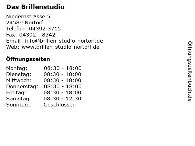 Das Brillenstudio in Nortorf: Adresse und Öffnungszeiten