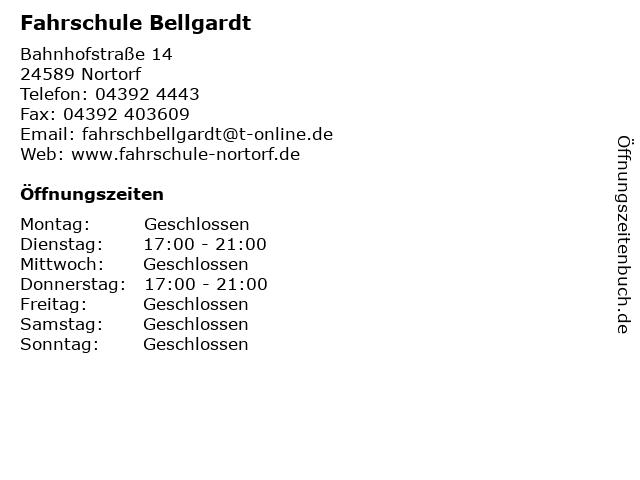 Fahrschule Bellgardt in Nortorf: Adresse und Öffnungszeiten