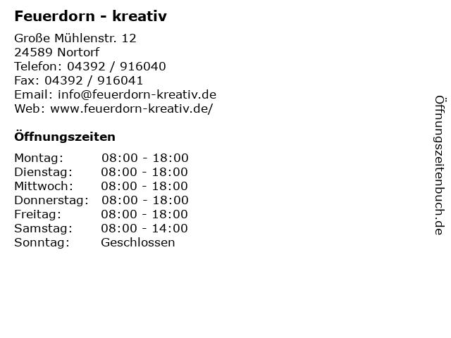 Feuerdorn - kreativ in Nortorf: Adresse und Öffnungszeiten