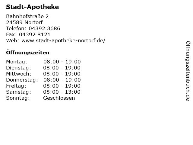 Stadt-Apotheke in Nortorf: Adresse und Öffnungszeiten