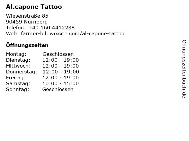 Al.capone Tattoo in Nürnberg: Adresse und Öffnungszeiten