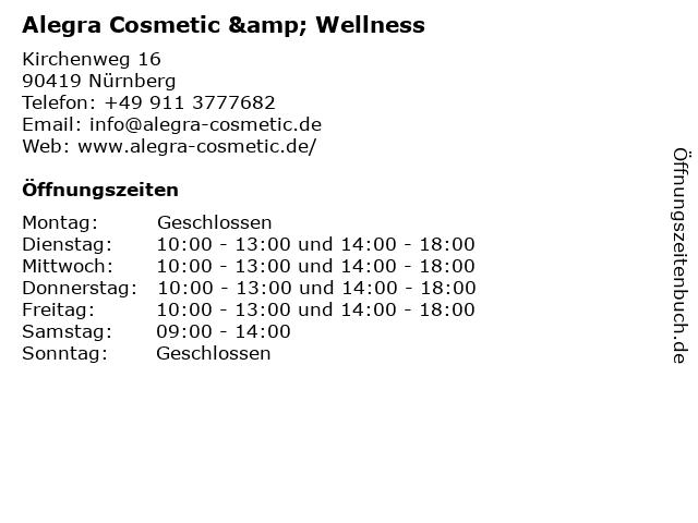 Alegra Cosmetic & Wellness in Nürnberg: Adresse und Öffnungszeiten