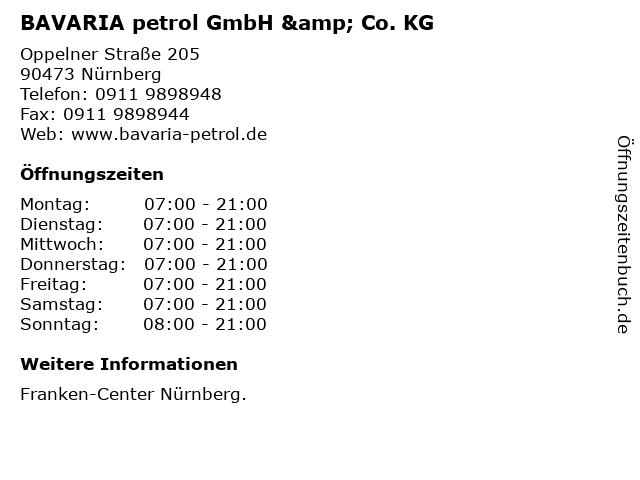 BAVARIA petrol GmbH & Co. KG in Nürnberg: Adresse und Öffnungszeiten