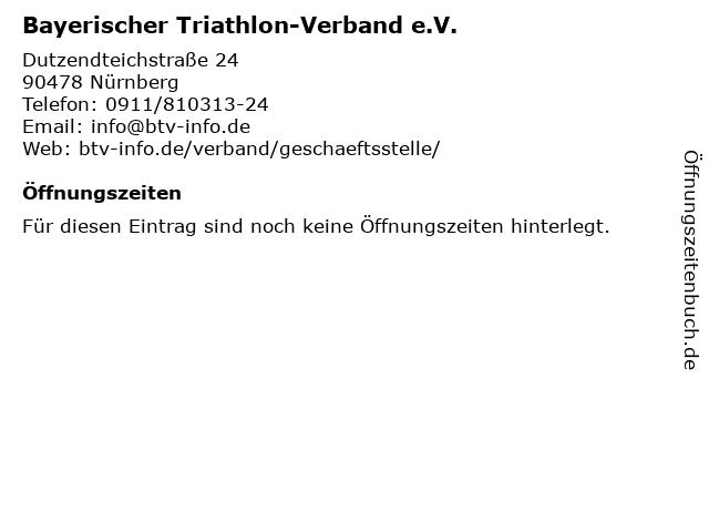 Bayerischer Triathlon-Verband e.V. in Nürnberg: Adresse und Öffnungszeiten