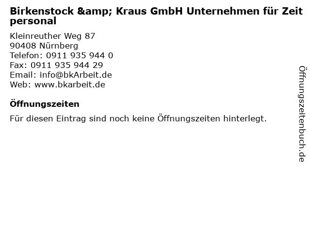 """save off debcc 211a7 ᐅ Öffnungszeiten """"Birkenstock & Kraus GmbH Unternehmen für ..."""