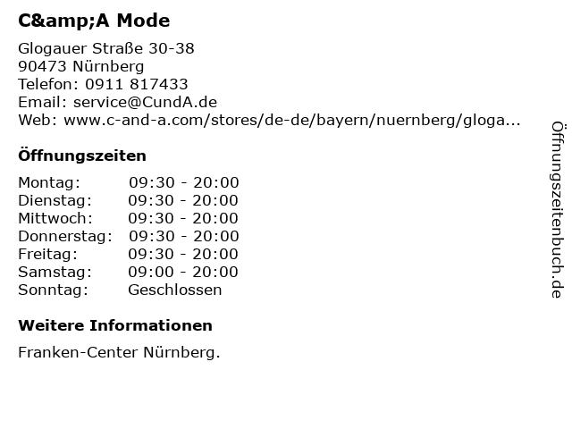 C&A Mode GmbH & Co. KG in Nürnberg: Adresse und Öffnungszeiten