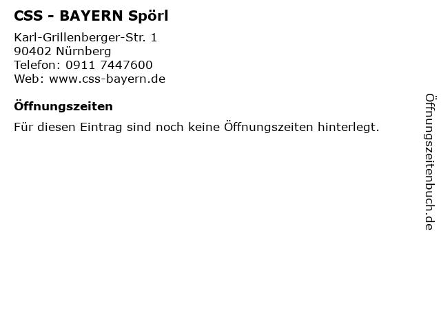CSS - BAYERN Spörl in Nürnberg: Adresse und Öffnungszeiten